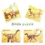 Dínós puzzle csomag (4 x 48 db)