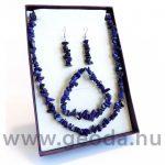 Lápisz lazuli szett (nyaklánc, karkötő, fülbevaló)